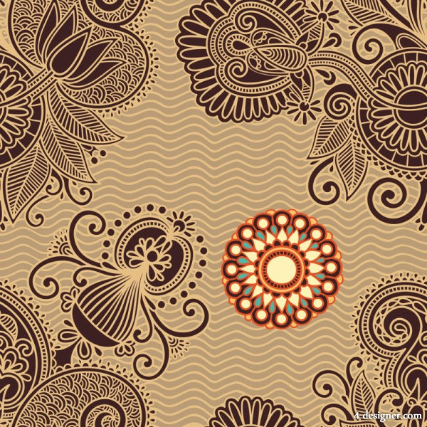 Ham pattern background 05   vector material