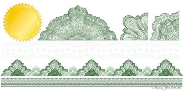 Pattern decorated Background 01   vector material