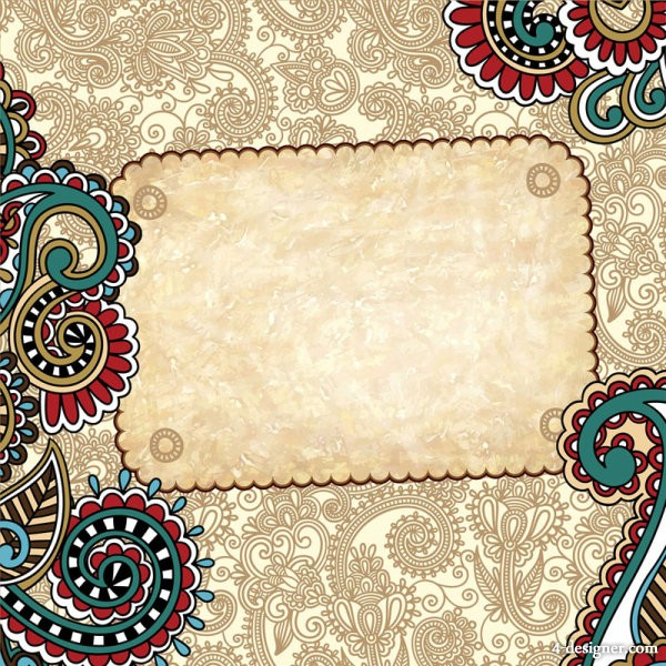 Retro pattern background   Vector material