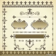 Classic pattern border 03   vector material