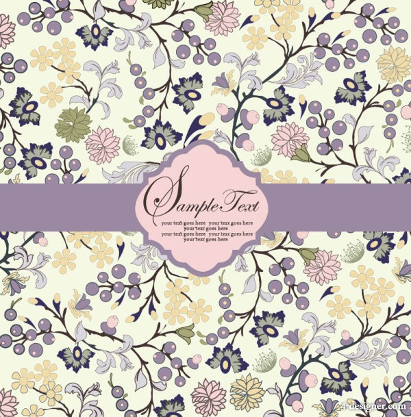 Pattern background card 03   vector material