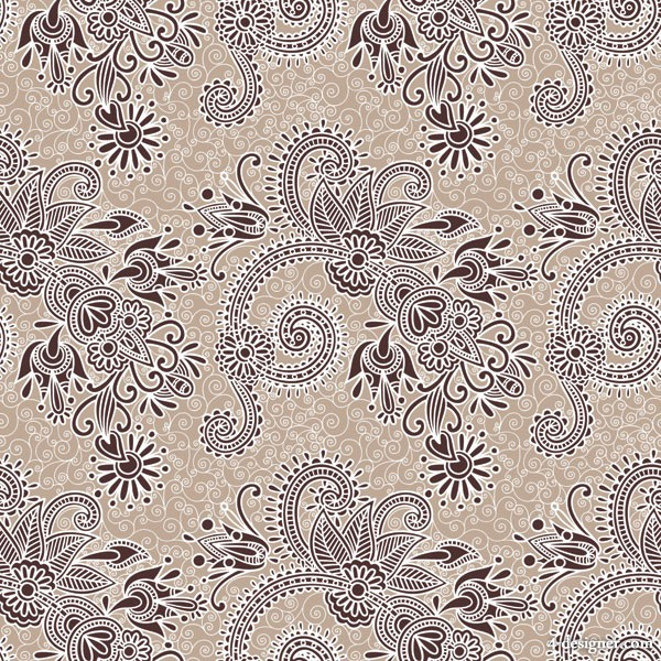 Beautiful hand painted pattern vector material  3