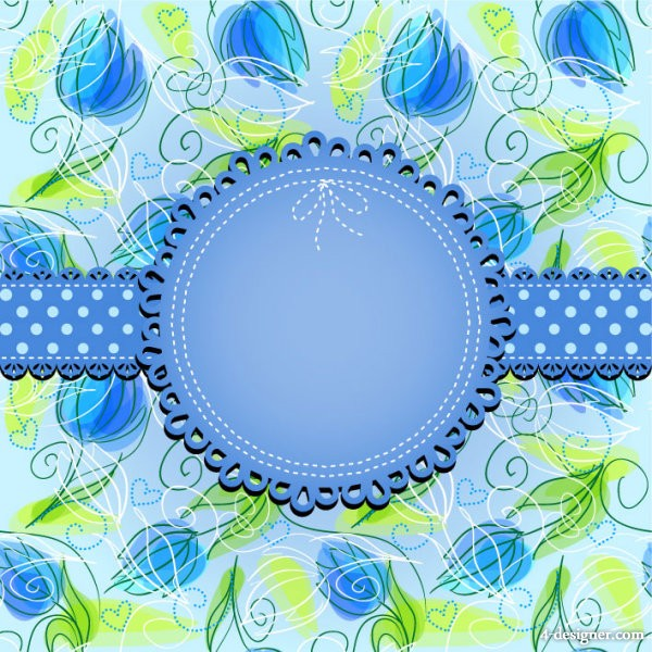 Beautiful pattern background 04   vector material