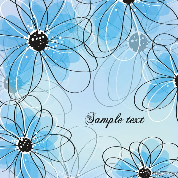Floral pattern 05   vector material
