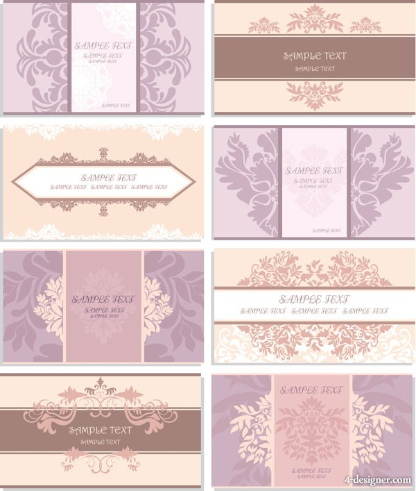 Pattern card template vector material