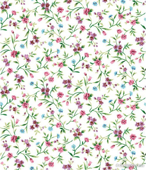 Purple floral flowers background vector material