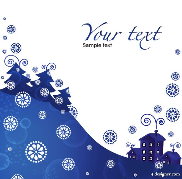 Vector Christmas blue background 01   vector material