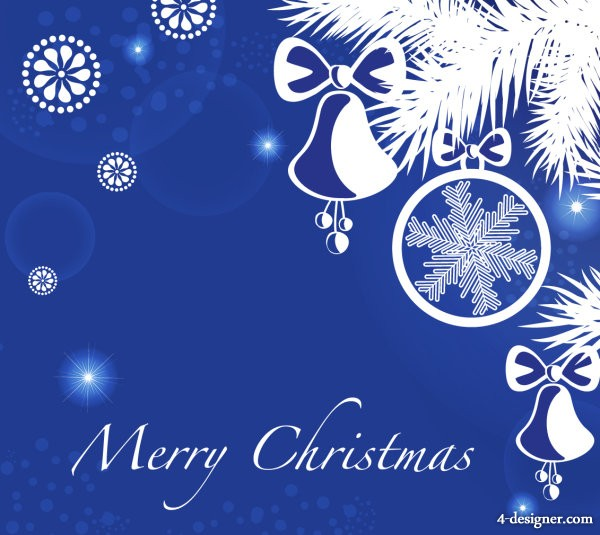 Vector Christmas blue background 05   vector material