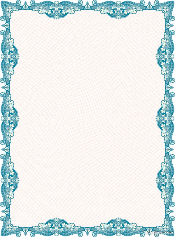 Vector classic security pattern border 05   vector material