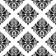 Classic traditional black and white pattern 01   vector material