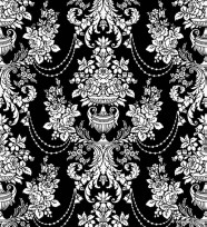 Classic traditional black and white pattern 02   vector material
