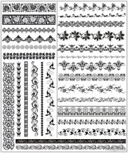 Exquisite lace pattern 01   vector material