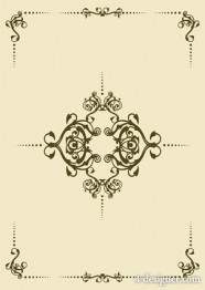 Minimalist European lace vector material
