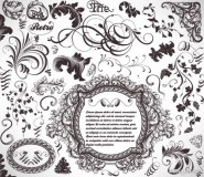 Classic lace pattern 04   vector material
