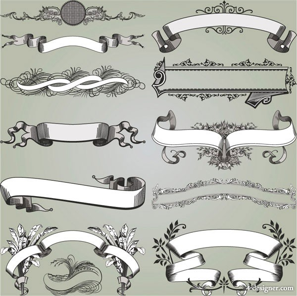European the gorgeous classical decoration pattern vector material 3