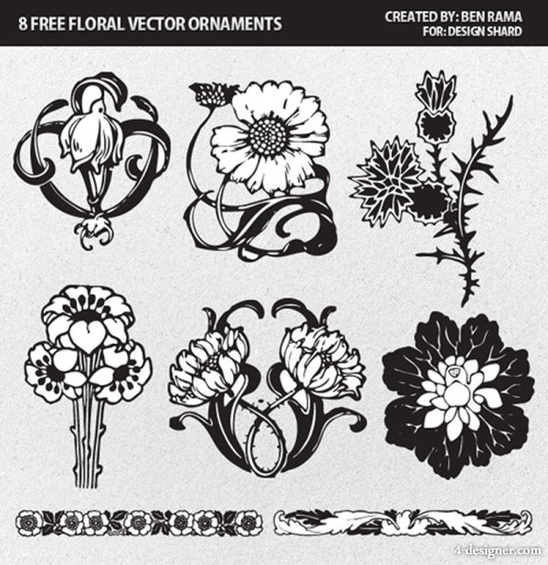Flowers pattern   Vector material
