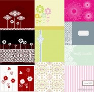 10 models simple and lovely pattern vector material