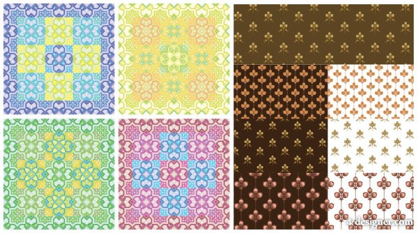 Lovely pattern background vector material