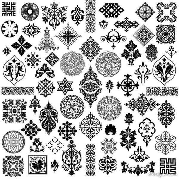 Ancient pattern style vector material