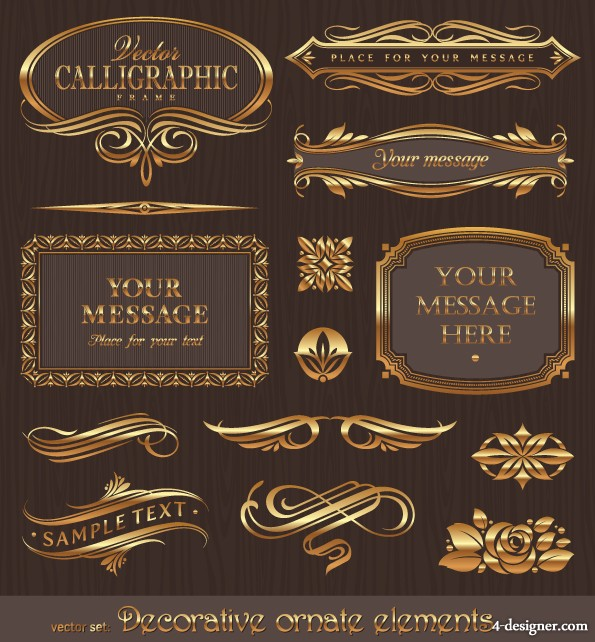 European lace pattern vector material