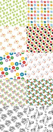 Floral pattern vector material