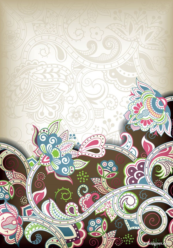 The gorgeous classical pattern vector material 5