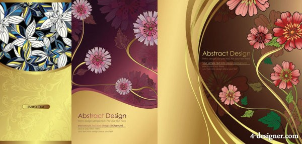Traditional pattern background vector material
