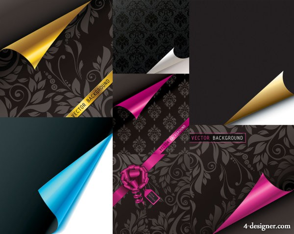 Volume angle of the paper pattern vector material