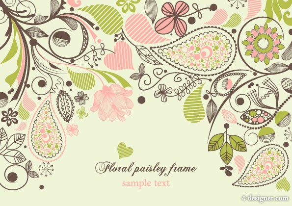 fashion pattern vector material 5