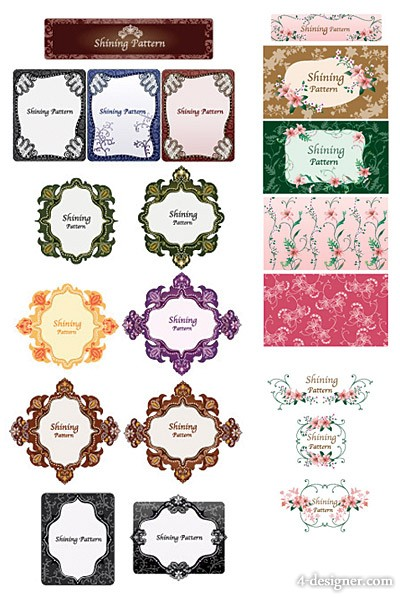 Korea Vector lace material Series  3