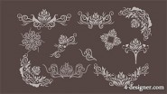 Korean pattern background vector material series  30