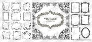 A variety of beautiful and practical lace vector material