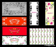 Beautifully decorated pattern vector material