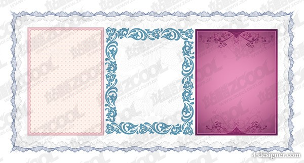 Practical lace border vector material  3