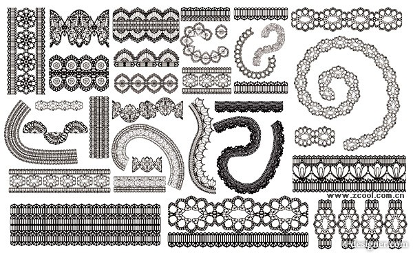 The lace lace pattern vector material  2