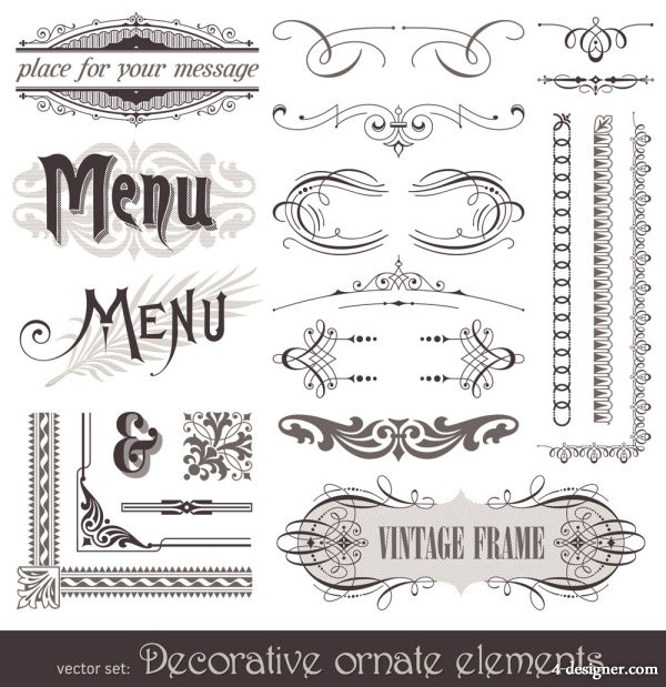 European lace pattern 02   vector material
