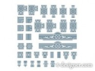 Exquisite lace 02   vector material