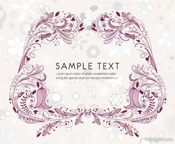 Exquisite pattern border 02   vector material