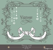 Line lace background 03   vector material