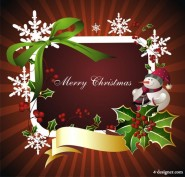 The exquisite Christmas border background 03   vector material