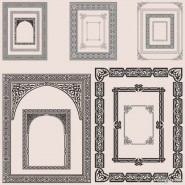 The exquisite pattern border 05   vector material