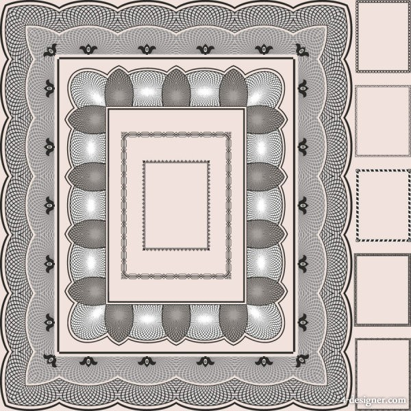 The framework of classical pattern 04   vector material