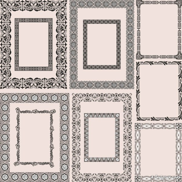 The framework of classical pattern 05   vector material