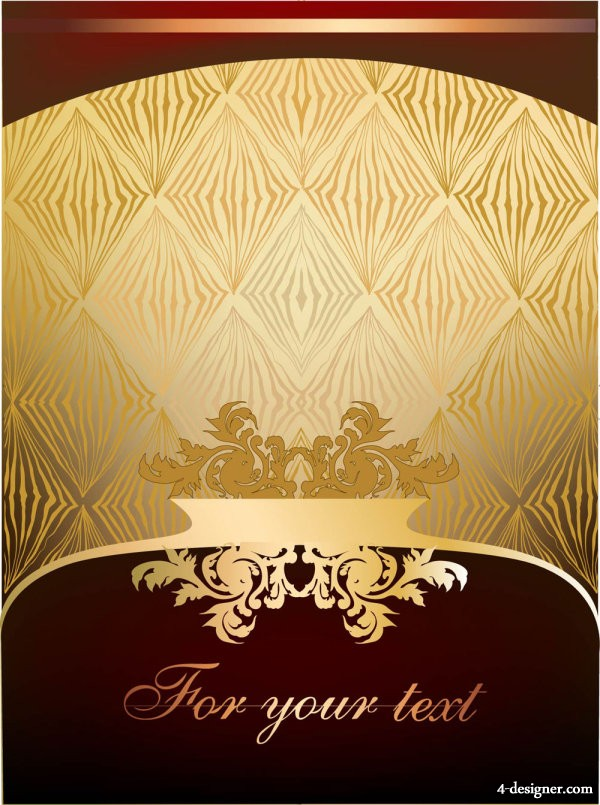 The gorgeous European pattern border 03   vector material