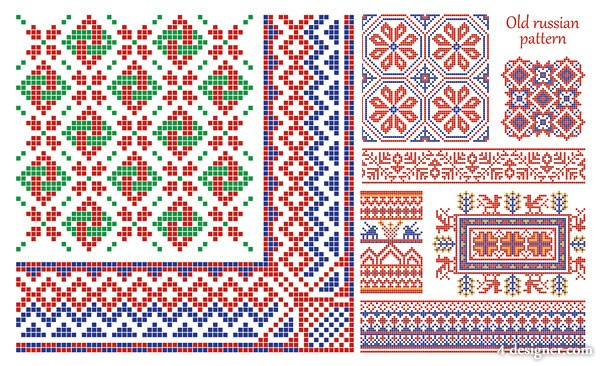 the pixel style pattern border vector material