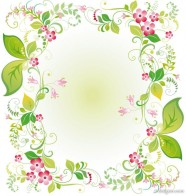 beautiful flowers and lace 03   vector material