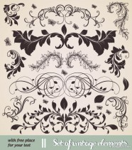 European classic lace pattern 01   vector material
