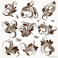 European classic pattern lace 04   vector material