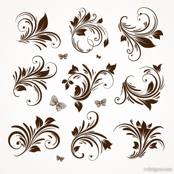 European classic pattern lace 05   vector material