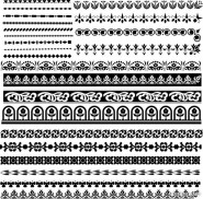 classic traditional lace pattern 03   vector material